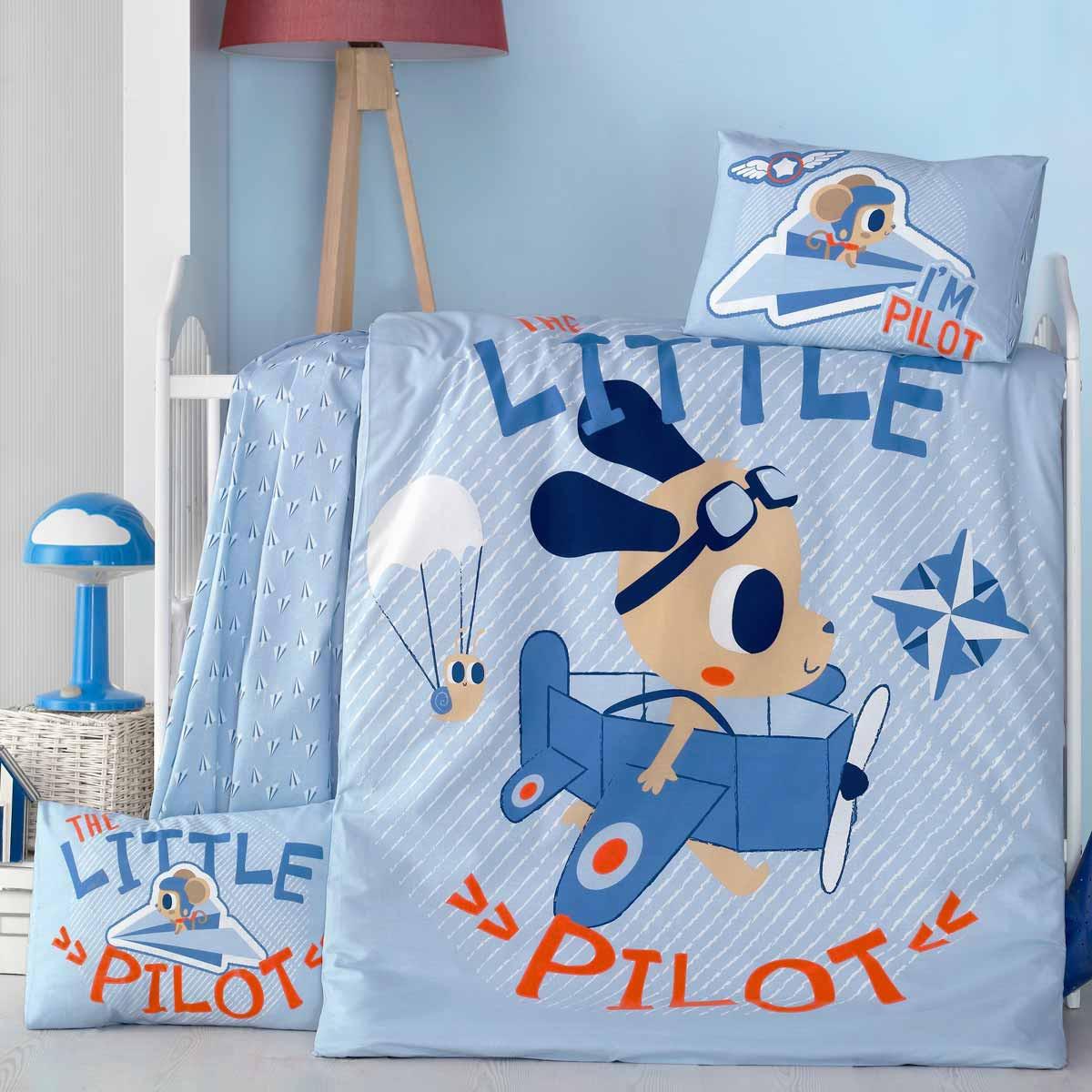 Σεντόνια Κούνιας (Σετ) Ravelia Baby Little Pilot