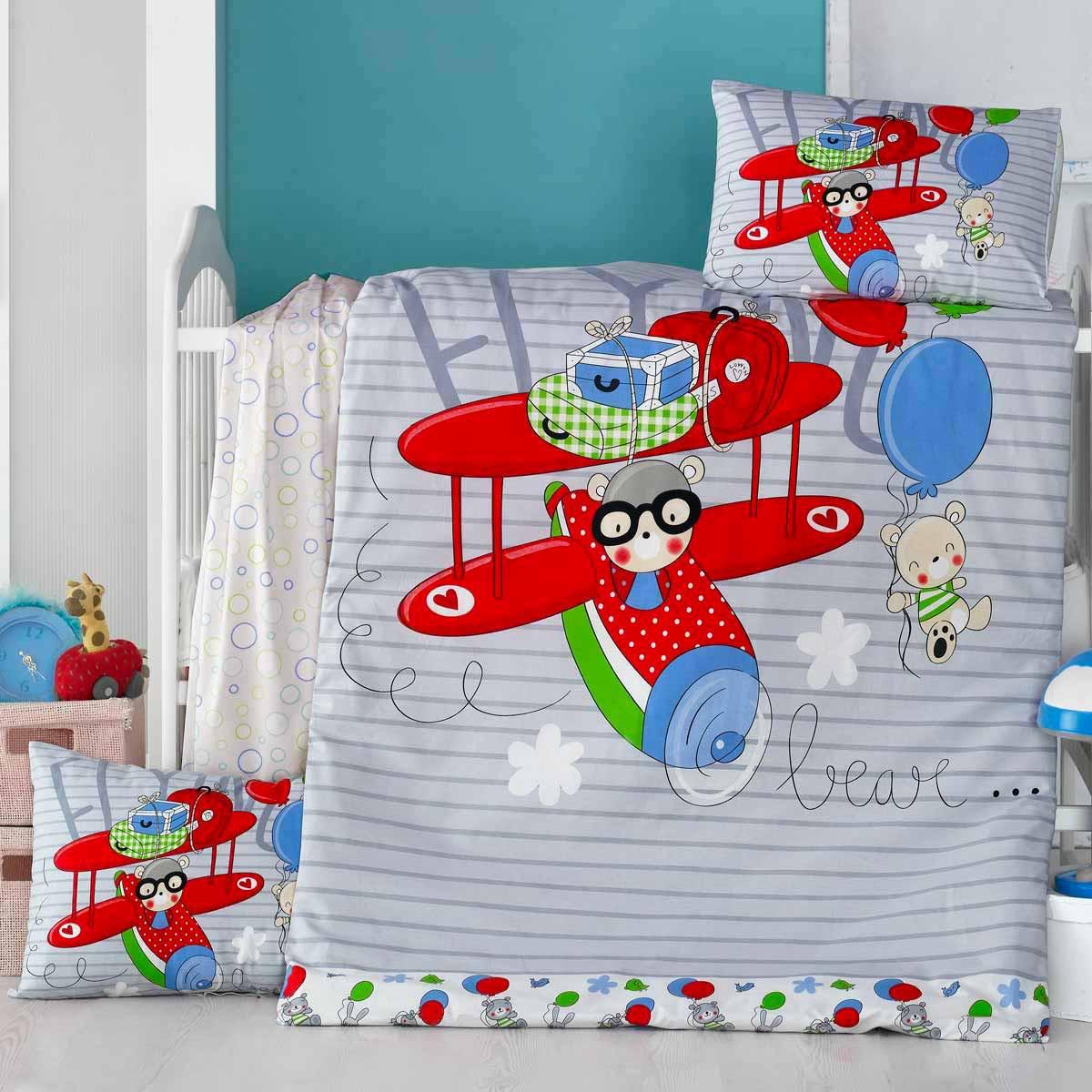 Σεντόνια Κούνιας (Σετ) Ravelia Baby Flying