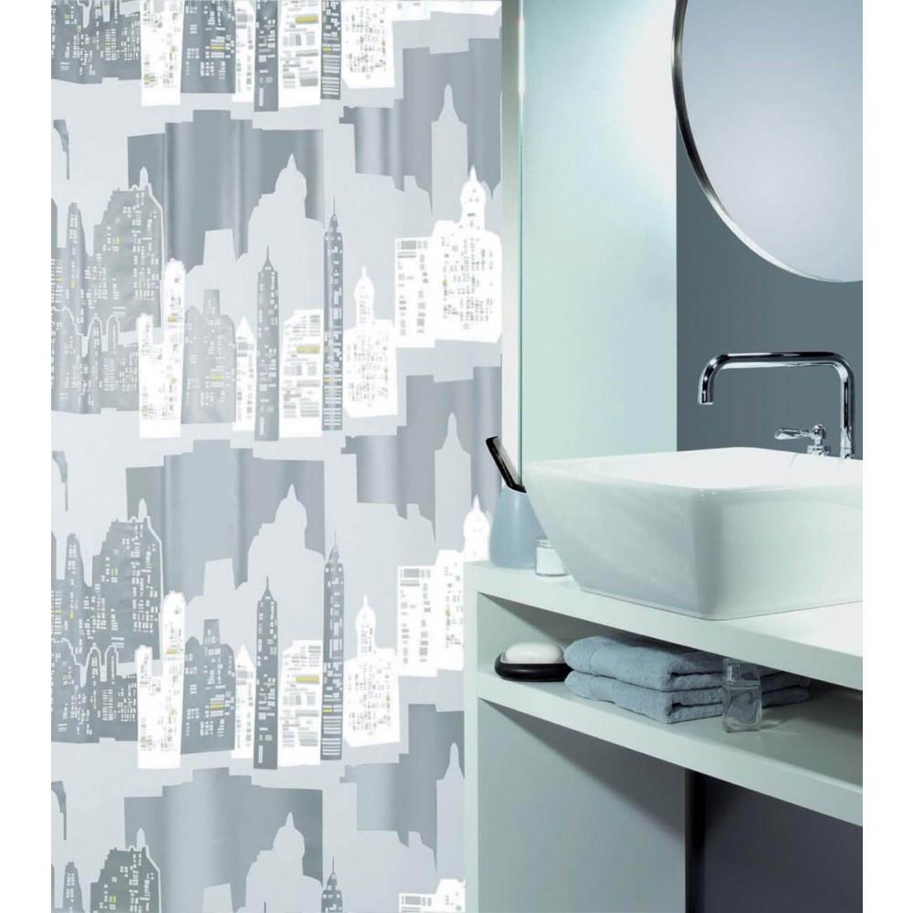 Κουρτίνα Μπάνιου Πλαστική (180×200) Spirella 00992.001 Bronx