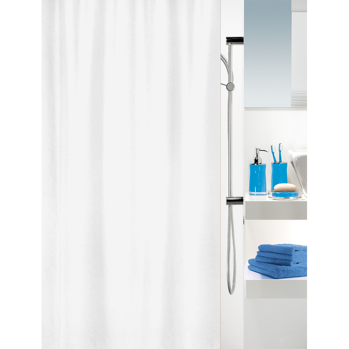 Κουρτίνα Μπάνιου (180×180) Spirella 02443.001 Campus White