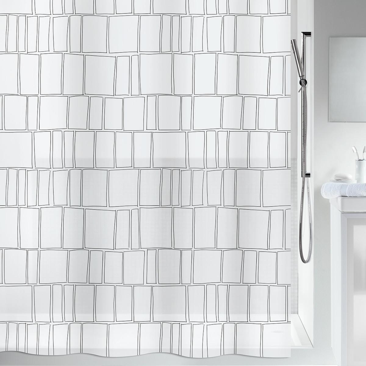Κουρτίνα Μπάνιου Πλαστική (180×200) Spirella 00804.001 Construct