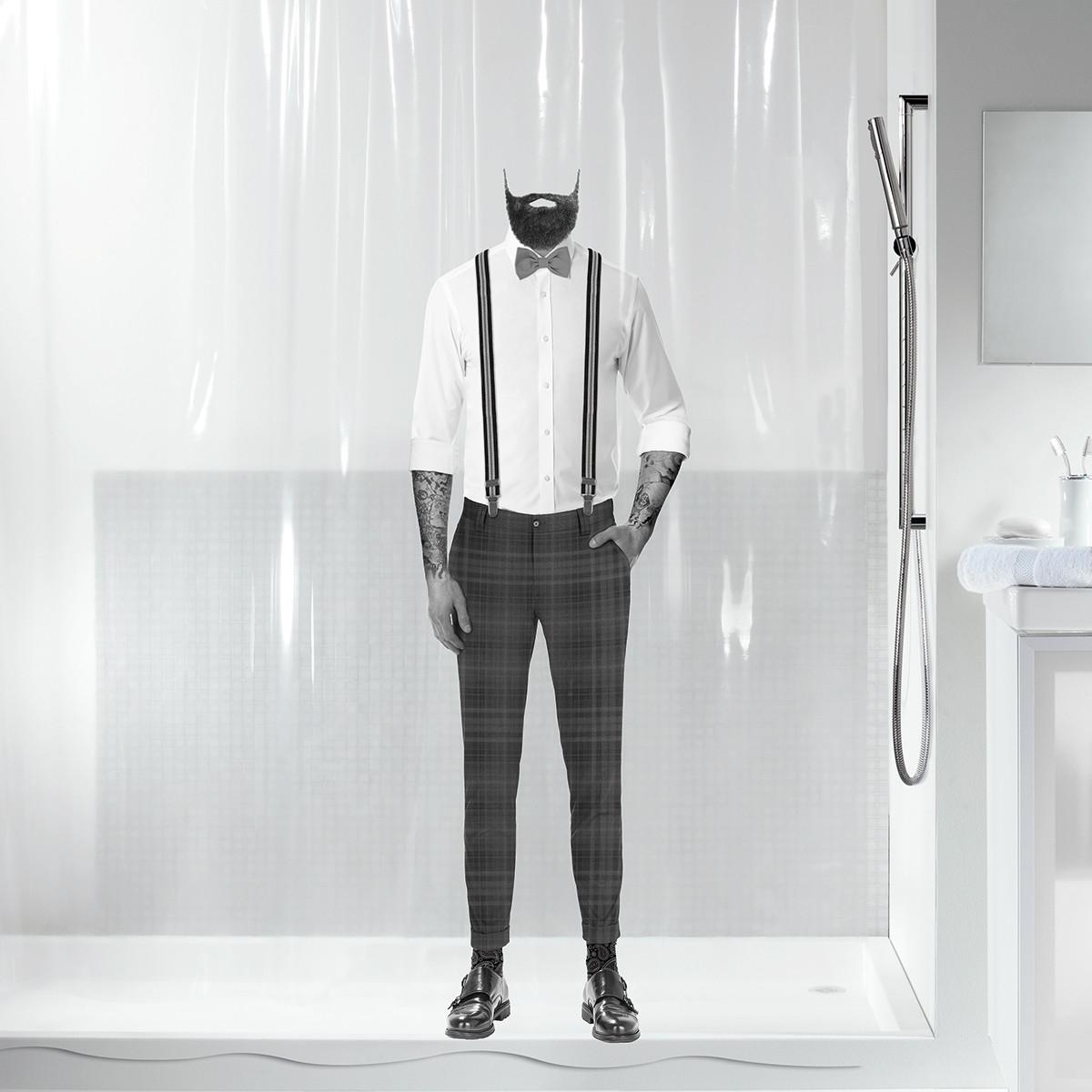 Κουρτίνα Μπάνιου Πλαστική (180×200) Spirella 00801.001 Dandy