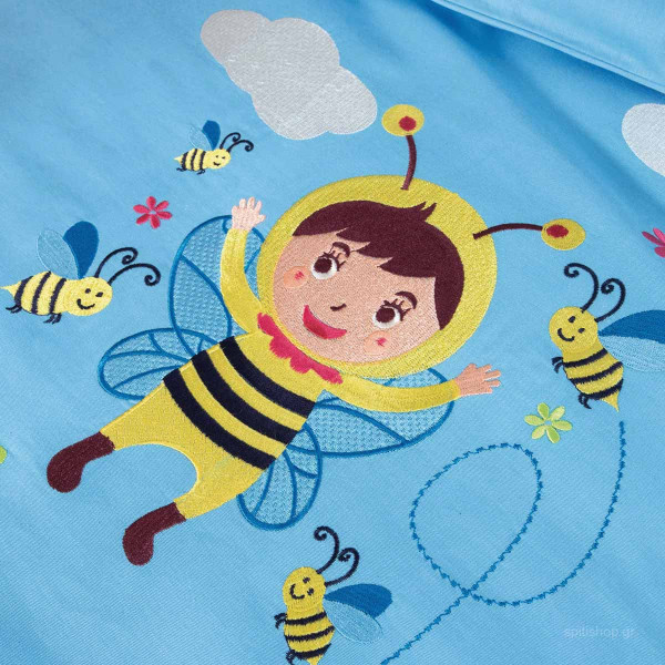 Παπλωματοθήκη Κούνιας (Σετ) Zouzounia Μέλισσα 020