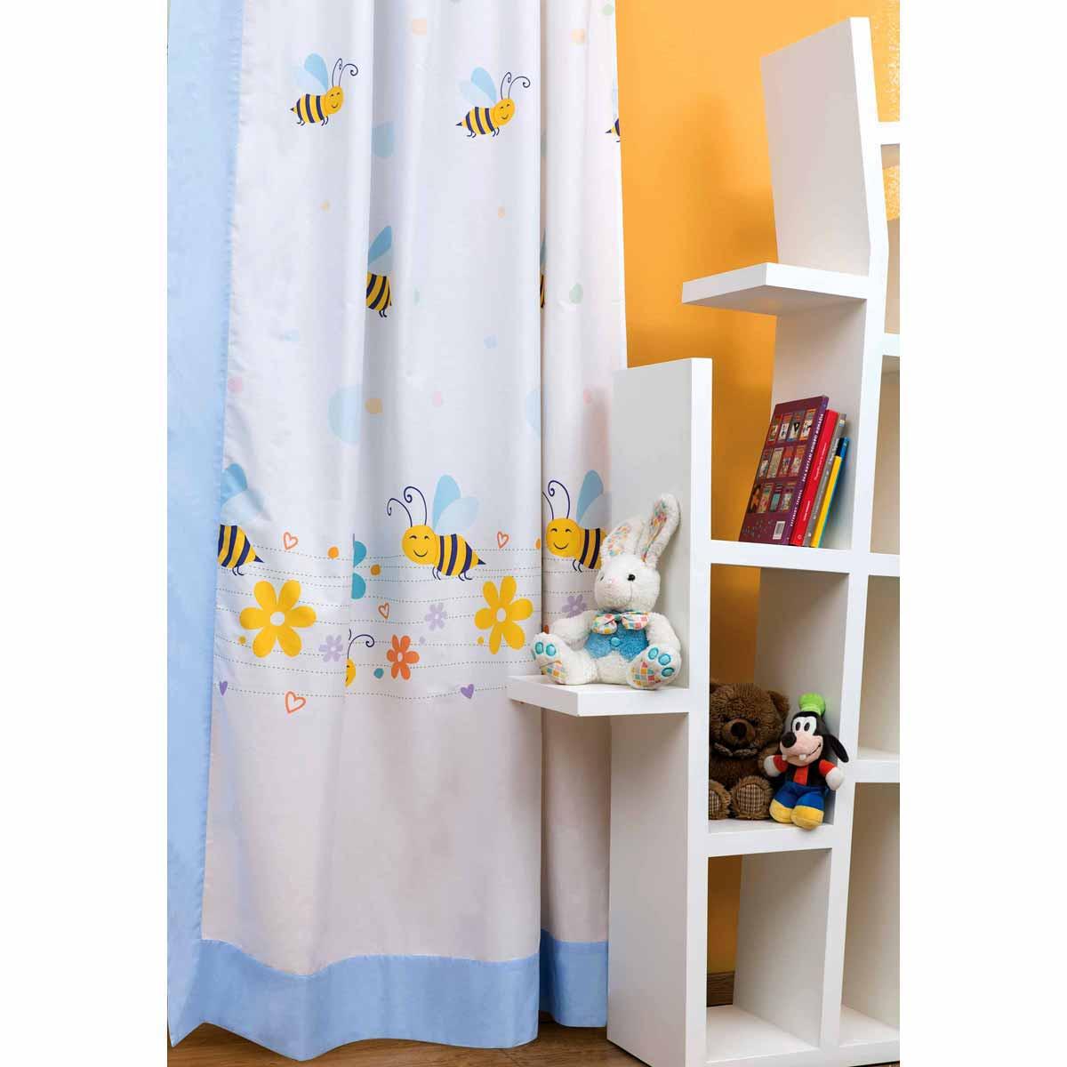 Κουρτίνα Δεξιά (150×250) Με Τρουκς Zouzounia Μέλισσα 053