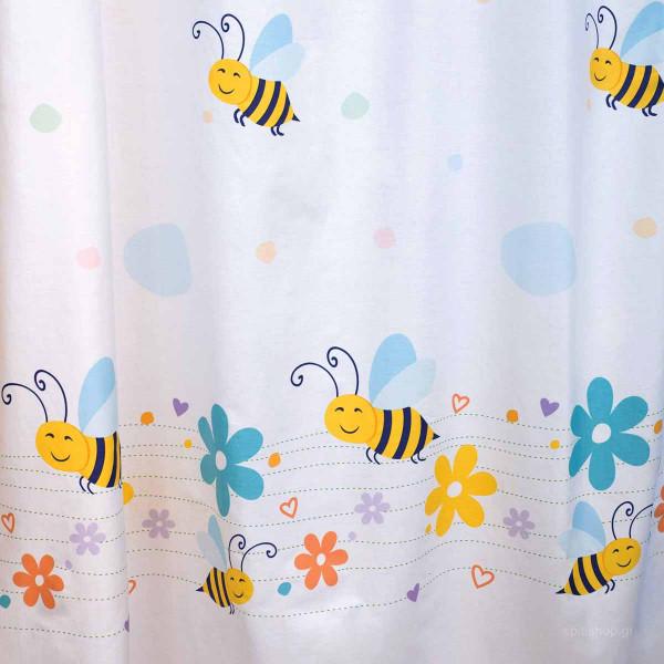 Κουρτίνα Δεξιά (150x250) Με Τρουκς Zouzounia Μέλισσα 053