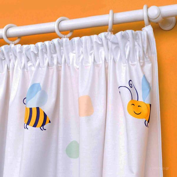 Κουρτίνα Δεξιά (150x250) Με Τρέσα Zouzounia Μέλισσα 061
