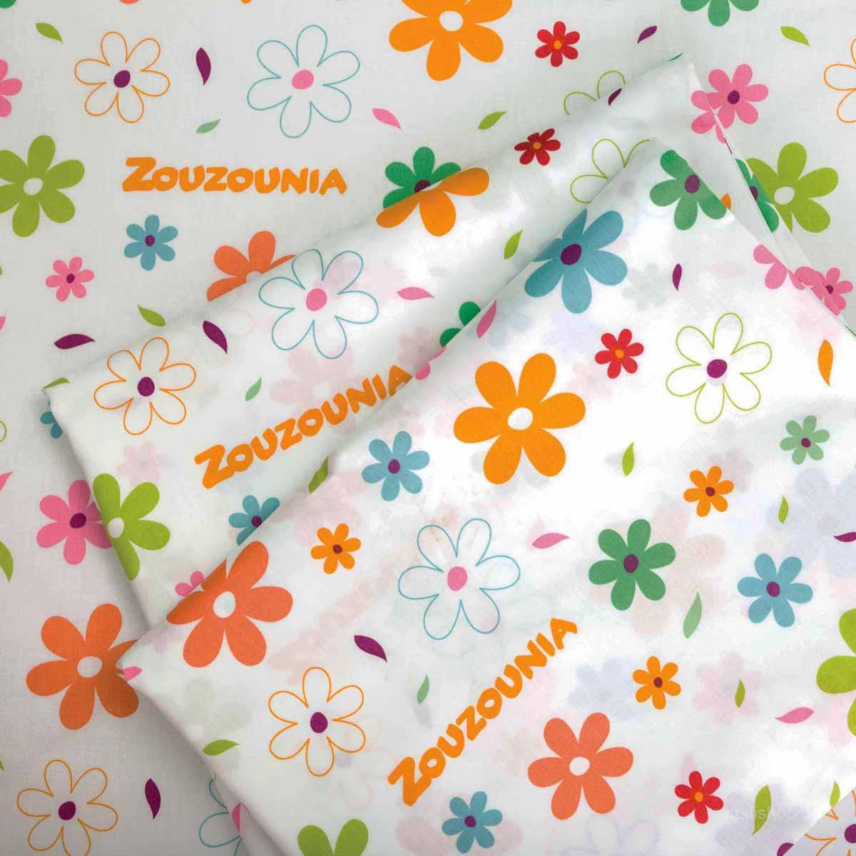 Σεντόνια Κούνιας 3τμχ Zouzounia Λουλούδι 134