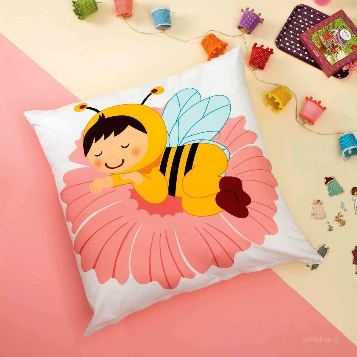 Θήκη Μαξιλάρας Δαπέδου Zouzounia Μέλισσα 204