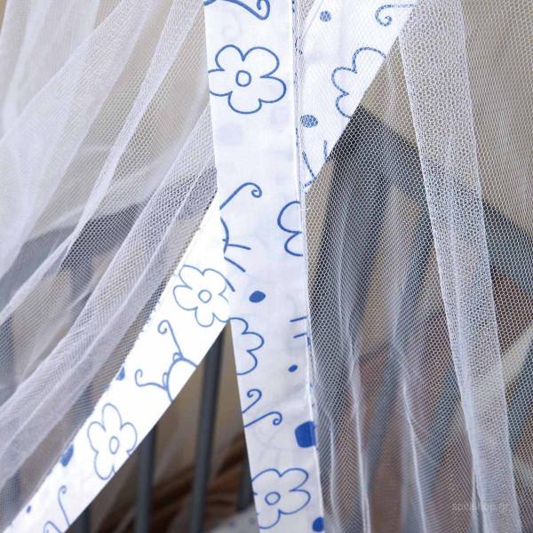 Κουνουπιέρα Κούνιας + Βάση Zouzounia Μπάμπουρας Μπλε 208