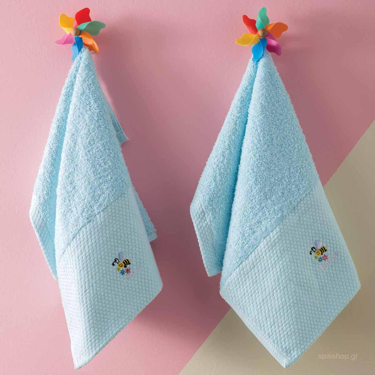 Βρεφικές Πετσέτες Προσώπου (Σετ 2τμχ) Zouzounia Μέλισσα 240