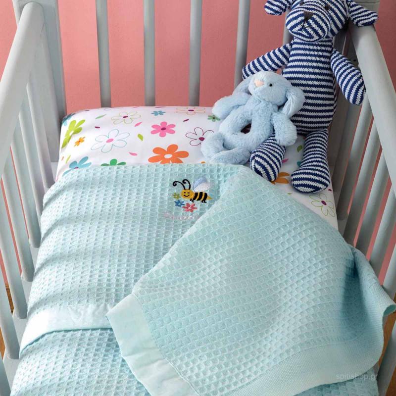 Κουβέρτα Πικέ Αγκαλιάς Zouzounia Μέλισσα 252