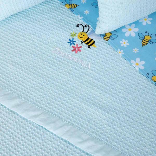 Κουβέρτα Πικέ Μονή Zouzounia Μέλισσα 260