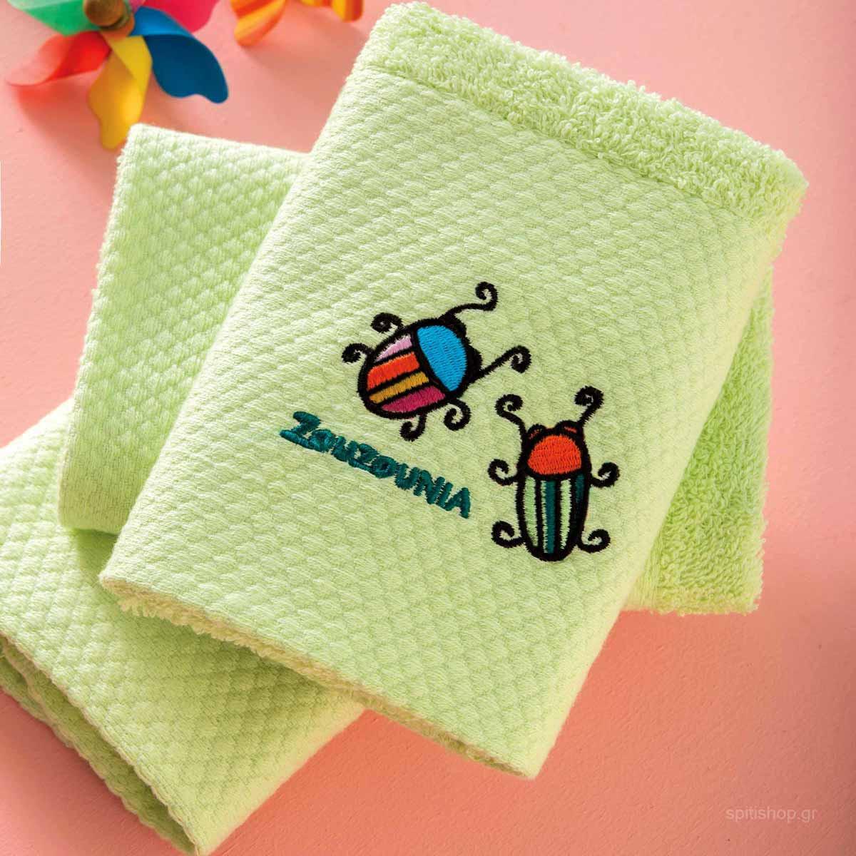 Βρεφικές Πετσέτες Χεριών (Σετ 3τμχ) Zouzounia Μπάμπουρας 350