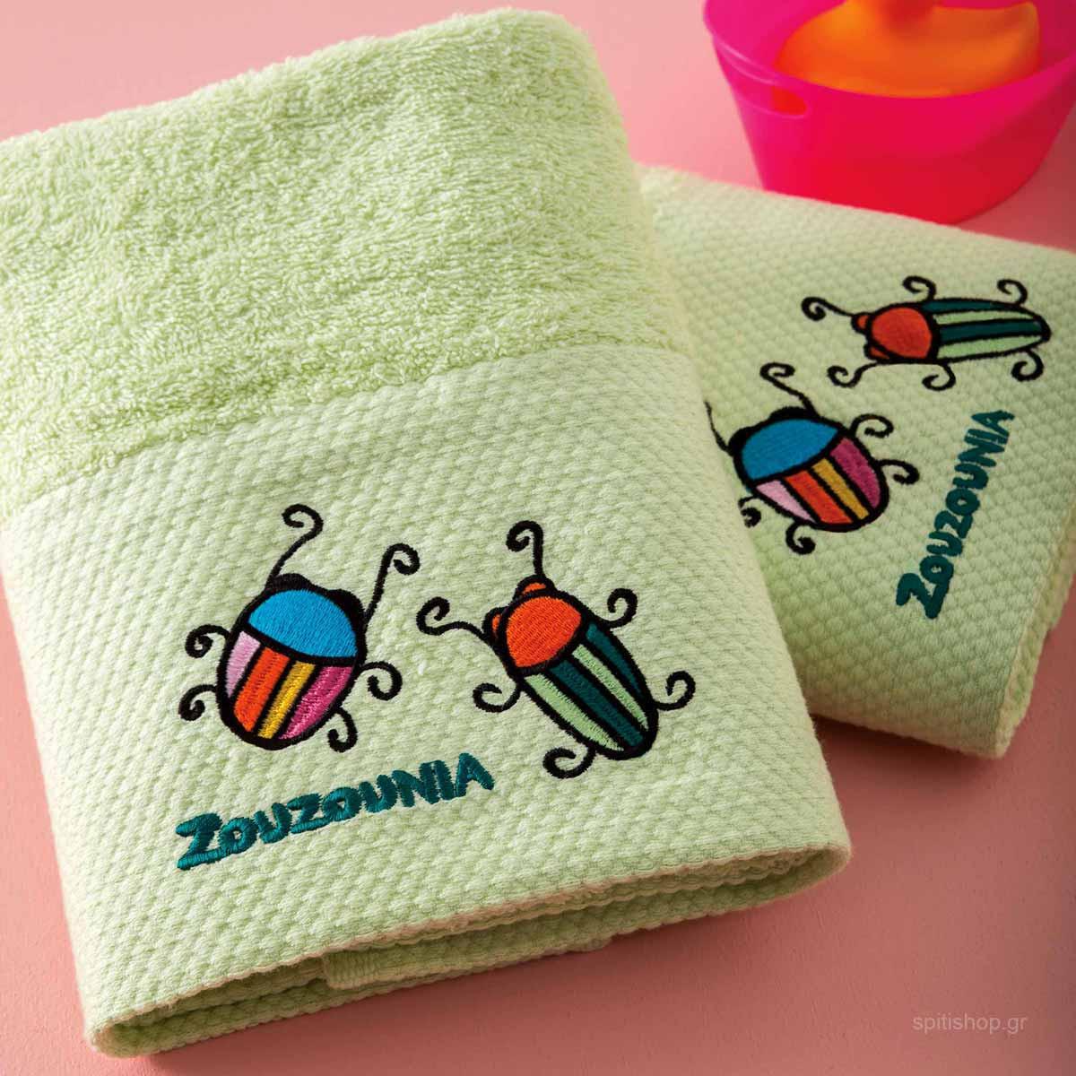 Βρεφικές Πετσέτες Προσώπου (Σετ 2τμχ) Zouzounia Μπάμπουρας 362