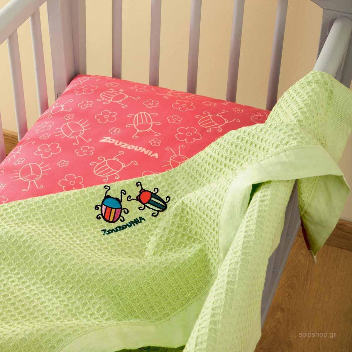 Κουβέρτα Πικέ Αγκαλιάς Zouzounia Μπάμπουρας 398 home   βρεφικά   κουβέρτες βρεφικές   κουβέρτες καλοκαιρινές