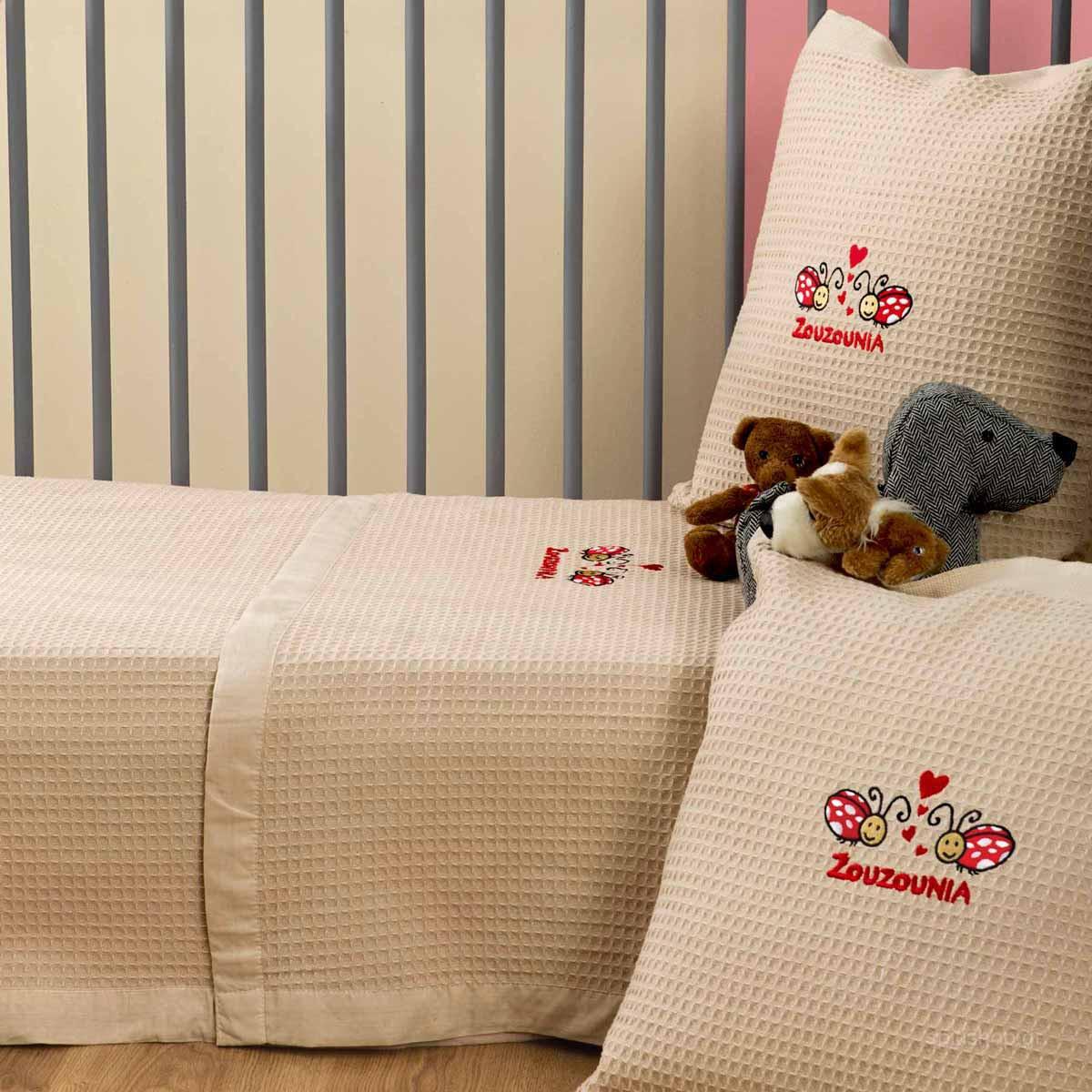 Κουβέρτα Πικέ Κούνιας Zouzounia Πασχαλίτσα 407 home   βρεφικά   κουβέρτες βρεφικές   κουβέρτες καλοκαιρινές