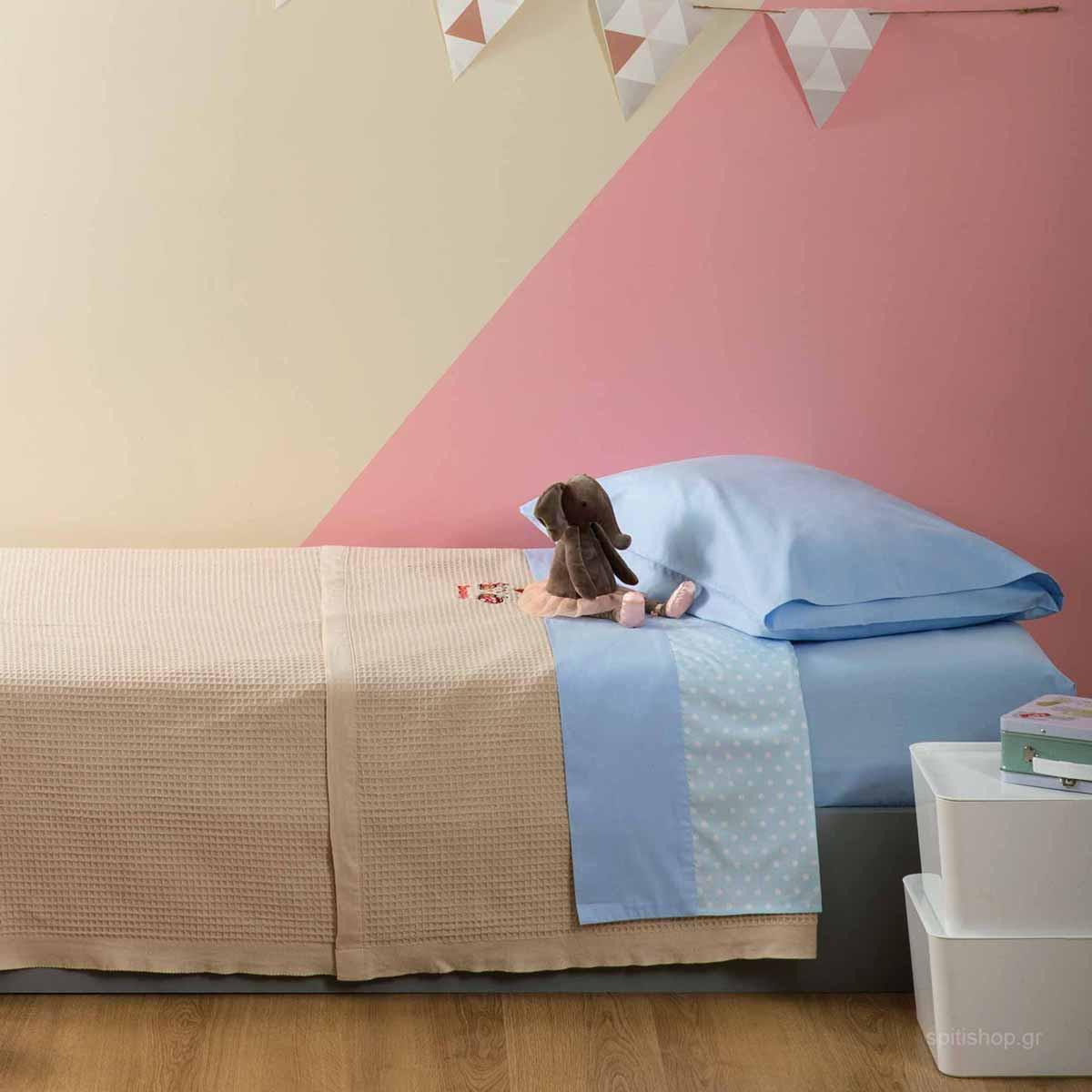 Κουβέρτα Πικέ Μονή Zouzounia Πασχαλίτσα 419 home   παιδικά   κουβέρτες παιδικές   κουβέρτες καλοκαιρινές