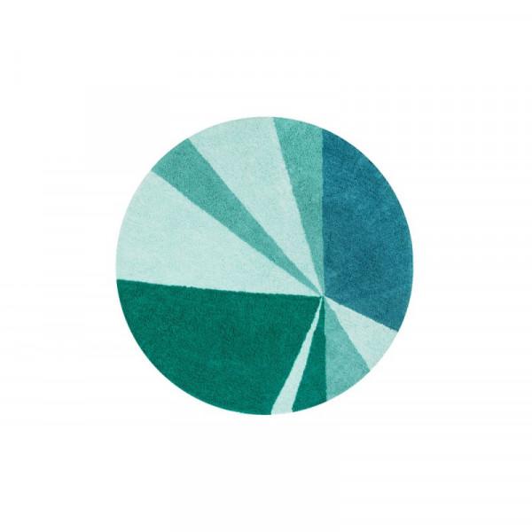 Πλενόμενο Στρογγυλό Χαλί (Φ160) Lorena Canals Geometric Emerald