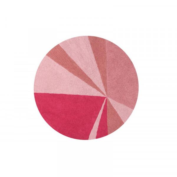 Πλενόμενο Στρογγυλό Χαλί (Φ160) Lorena Canals Geometric Rosa
