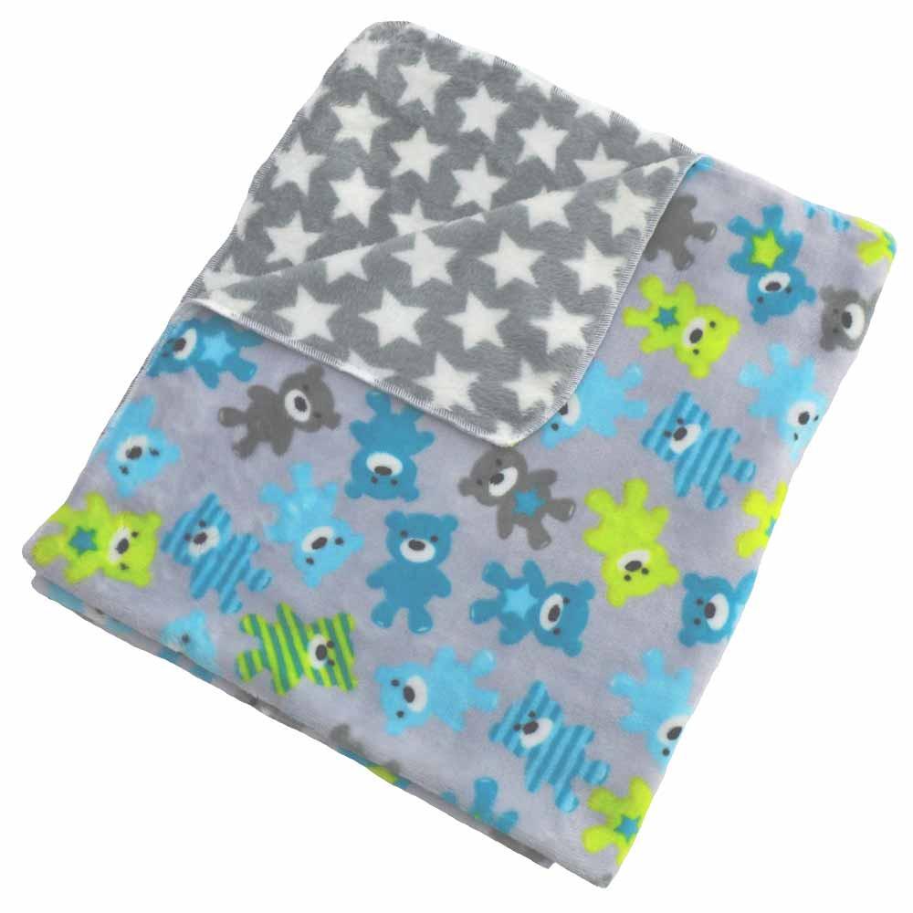 Κουβέρτα Fleece Αγκαλιάς Κόσμος Του Μωρού 0300 Doudou Σιέλ