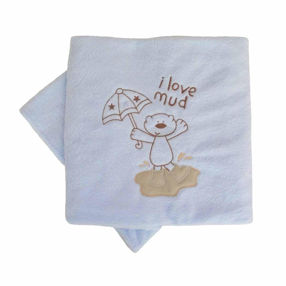 Κουβέρτα Fleece Αγκαλιάς Κόσμος Του Μωρού 0060 Mud Σιέλ