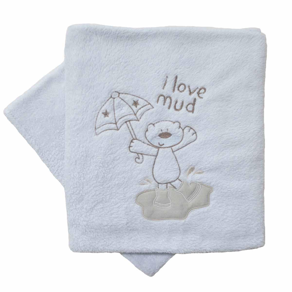 Κουβέρτα Fleece Κούνιας Κόσμος Του Μωρού 0065 Mud Γκρι