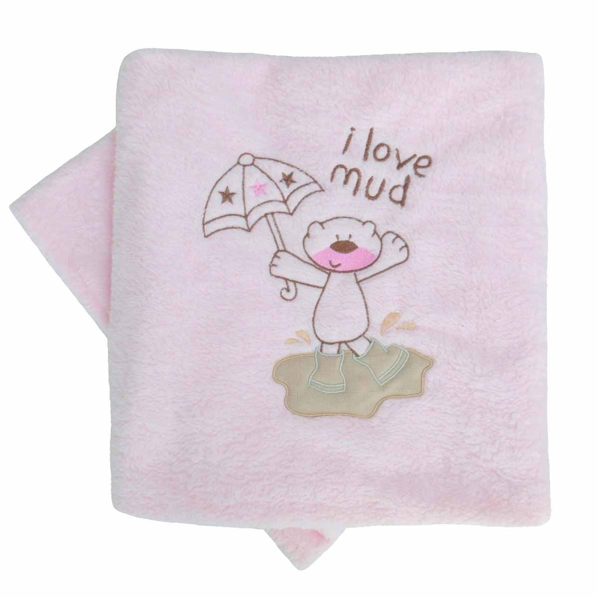 Κουβέρτα Fleece Κούνιας Κόσμος Του Μωρού 0065 Mud Ροζ