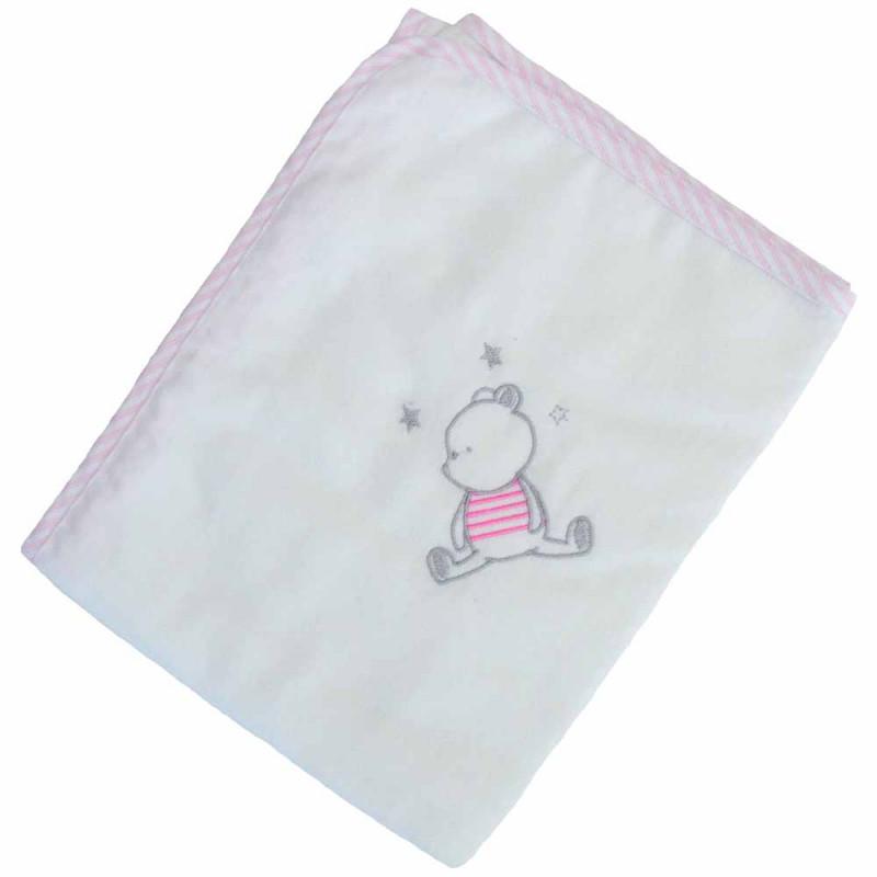 Πάνα Φανελένια Κόσμος Του Μωρού 0314 Bear Ροζ