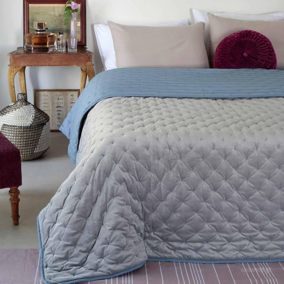 Κουβερτοπάπλωμα Μονό Melinen Lush Silver home   κρεβατοκάμαρα   παπλώματα   κουβερτοπαπλώματα