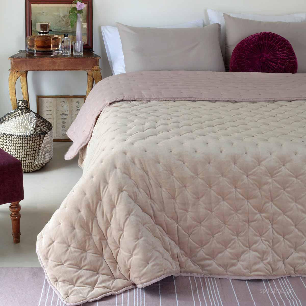 Κουβερτοπάπλωμα Υπέρδιπλο Melinen Lush Beige home   κρεβατοκάμαρα   παπλώματα   κουβερτοπαπλώματα