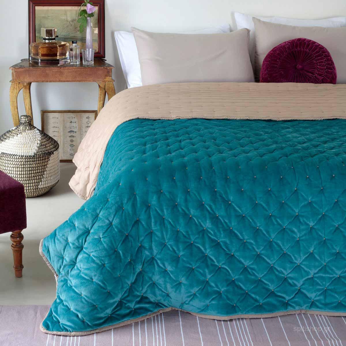 Κουβερτοπάπλωμα Μονό Melinen Lush Teal home   κρεβατοκάμαρα   παπλώματα   κουβερτοπαπλώματα