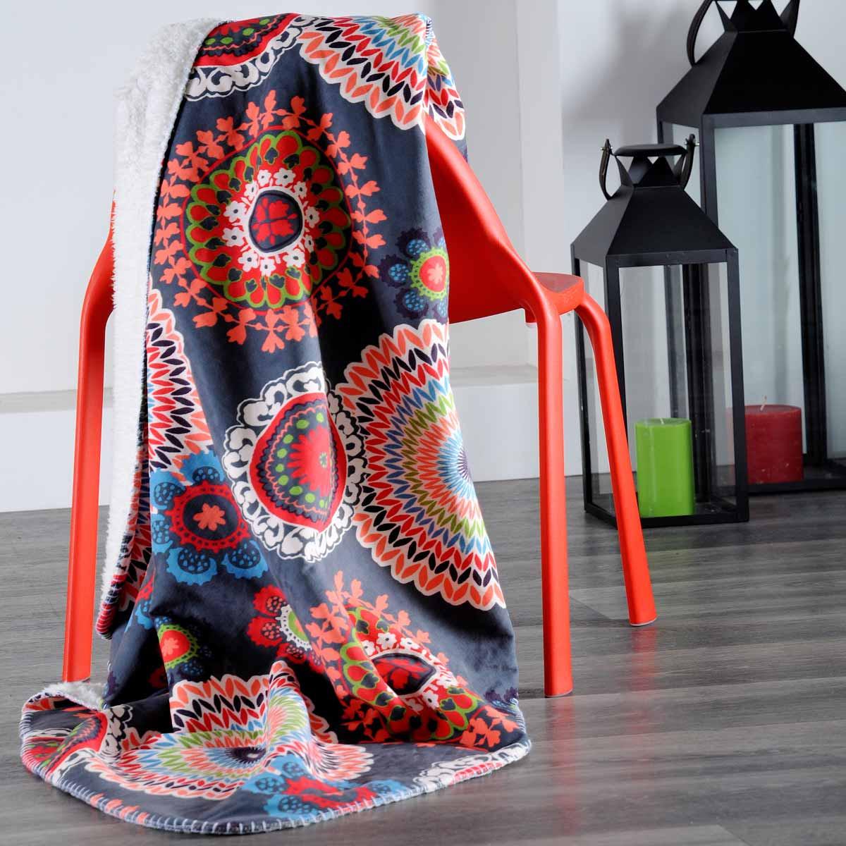 Κουβέρτα Καναπέ Caramba Gris P21555001