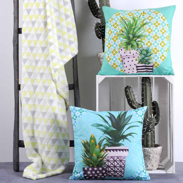 Κουβέρτα Καναπέ S-F Cacti Jaune P27628001