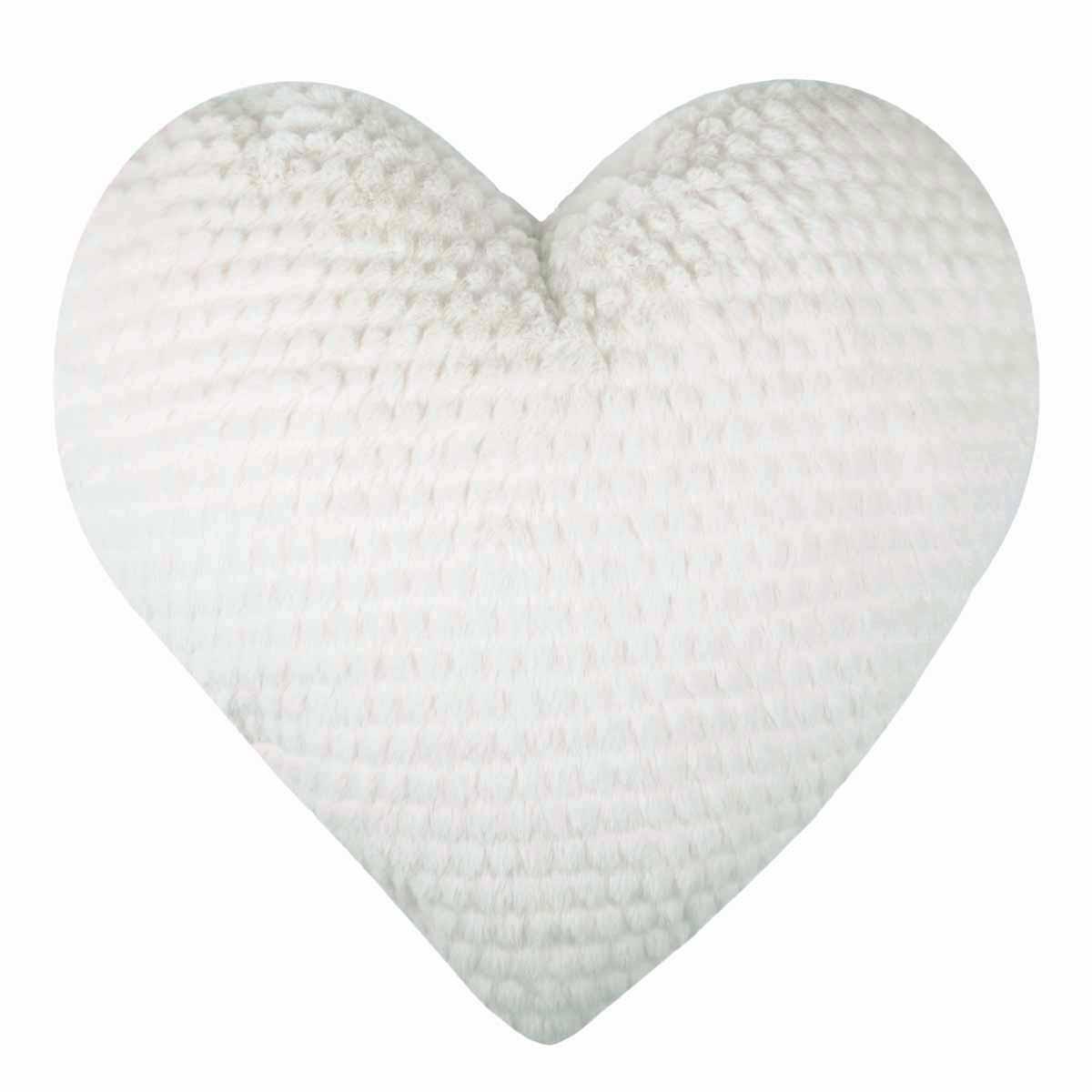 Διακοσμητικό Μαξιλάρι Καρδιά Louise Blanc C25208001 home   παιδικά   διακοσμητικά μαξιλάρια παιδικά