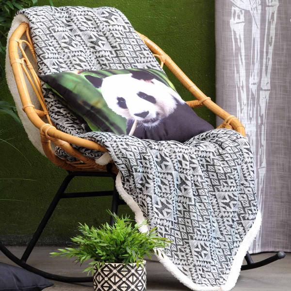 Κουβέρτα Καναπέ Panda Noir P27779001