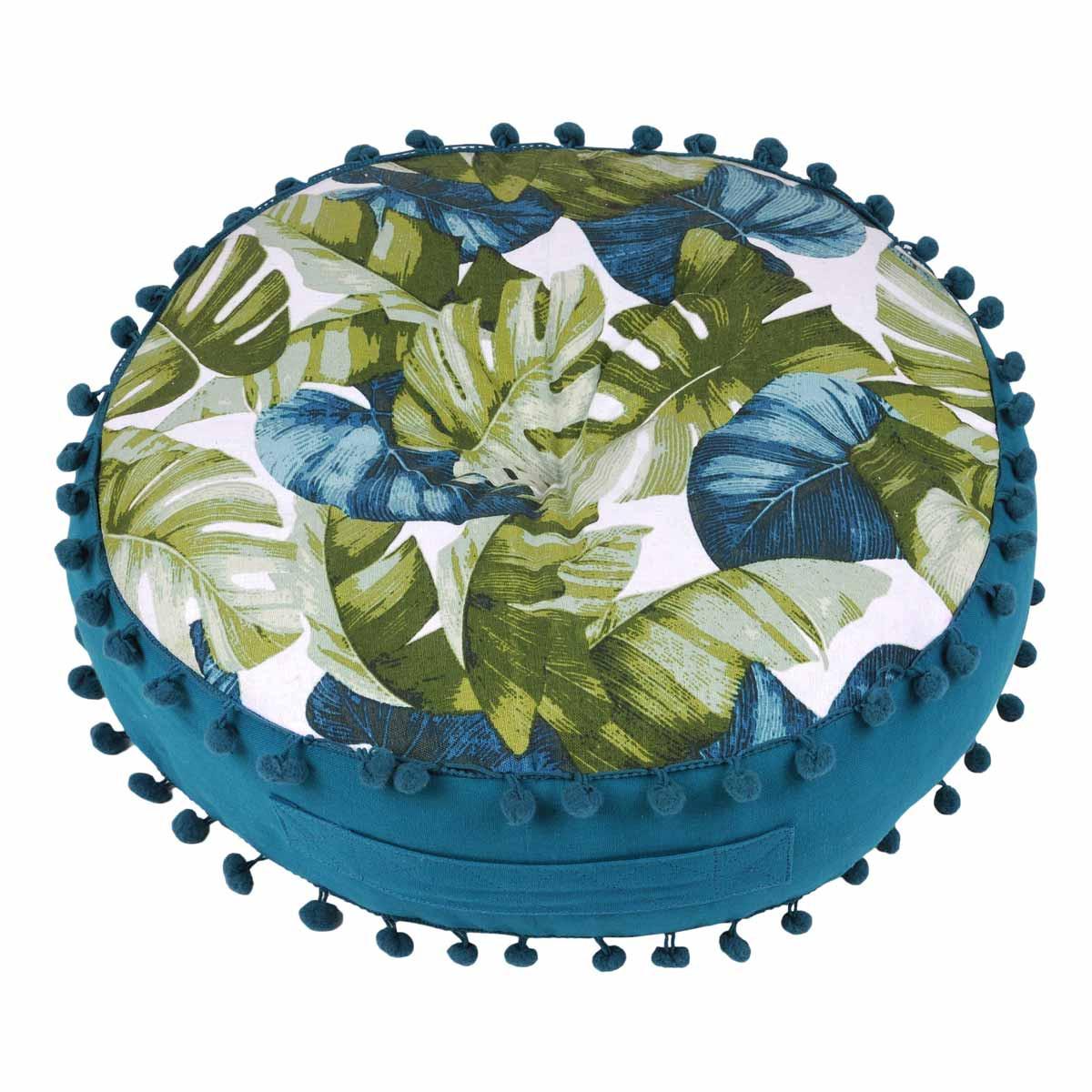 Μαξιλάρα Δαπέδου Gardena Feuilles C22982001 home   σαλόνι   μαξιλάρες   πουφ   σκαμπό