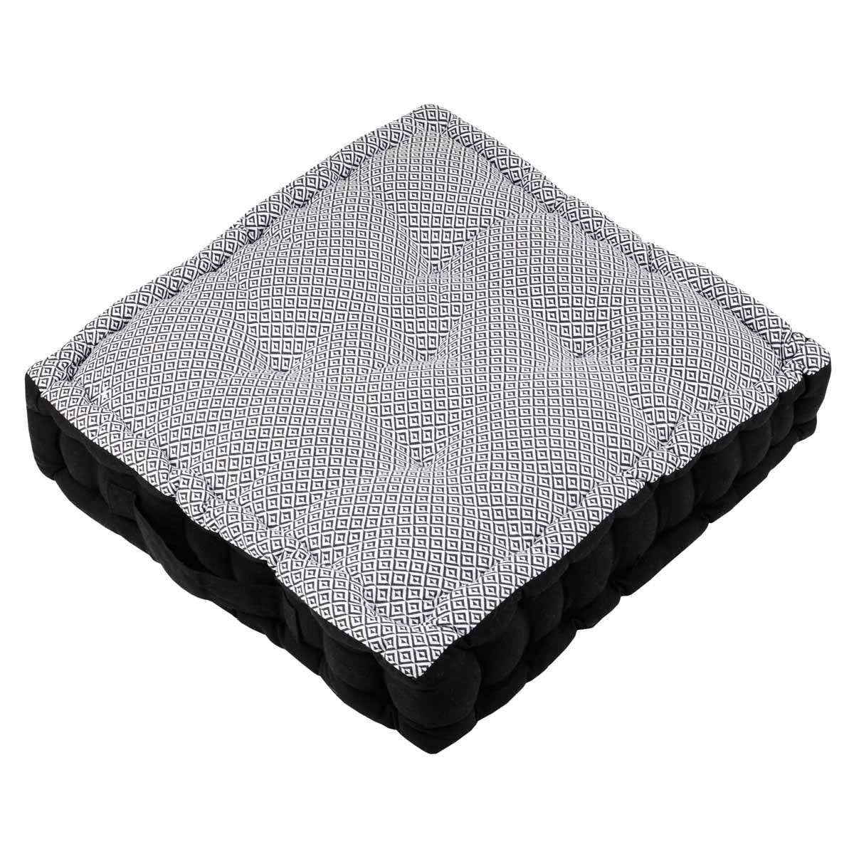 Μαξιλάρα Δαπέδου Benin Noir C52978003 home   σαλόνι   μαξιλάρες δαπέδου   πουφ