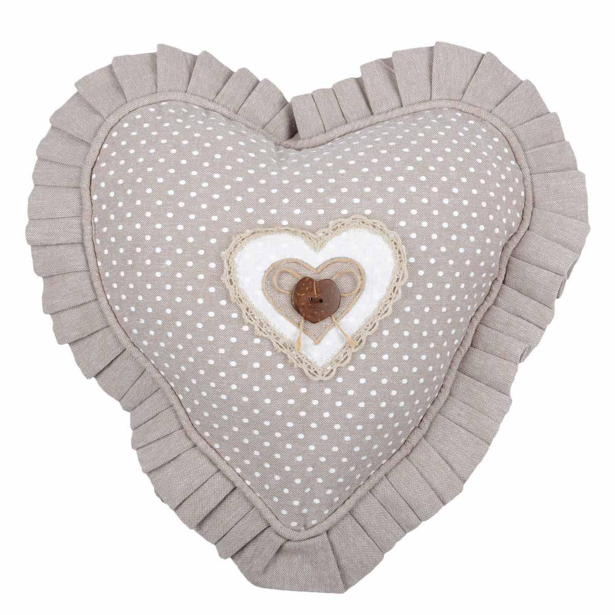 Διακοσμητικό Μαξιλάρι Καρδιά (30×30) Lyna Naturel C23102001