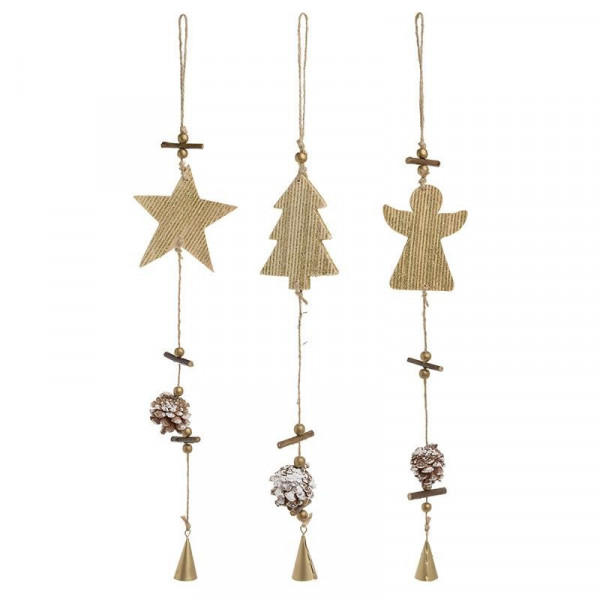 Χριστουγεννιάτικα Στολίδια (Σετ 3τμχ) InArt 2-70-718-0002
