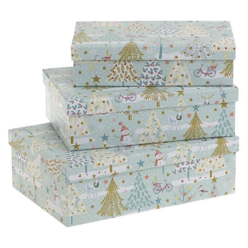Χριστουγεννιάτικα Κουτιά (Σετ 3τμχ) InArt 2-70-144-0107 home   χριστουγεννιάτικα   χριστουγεννιάτικα διακοσμητικά