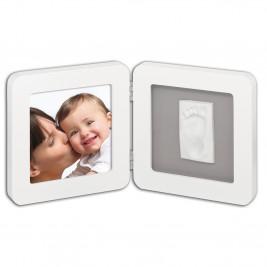 Κορνίζα Αποτύπωμα 2 Θέσεων Baby Art My Baby Touch White/Grey BR71042
