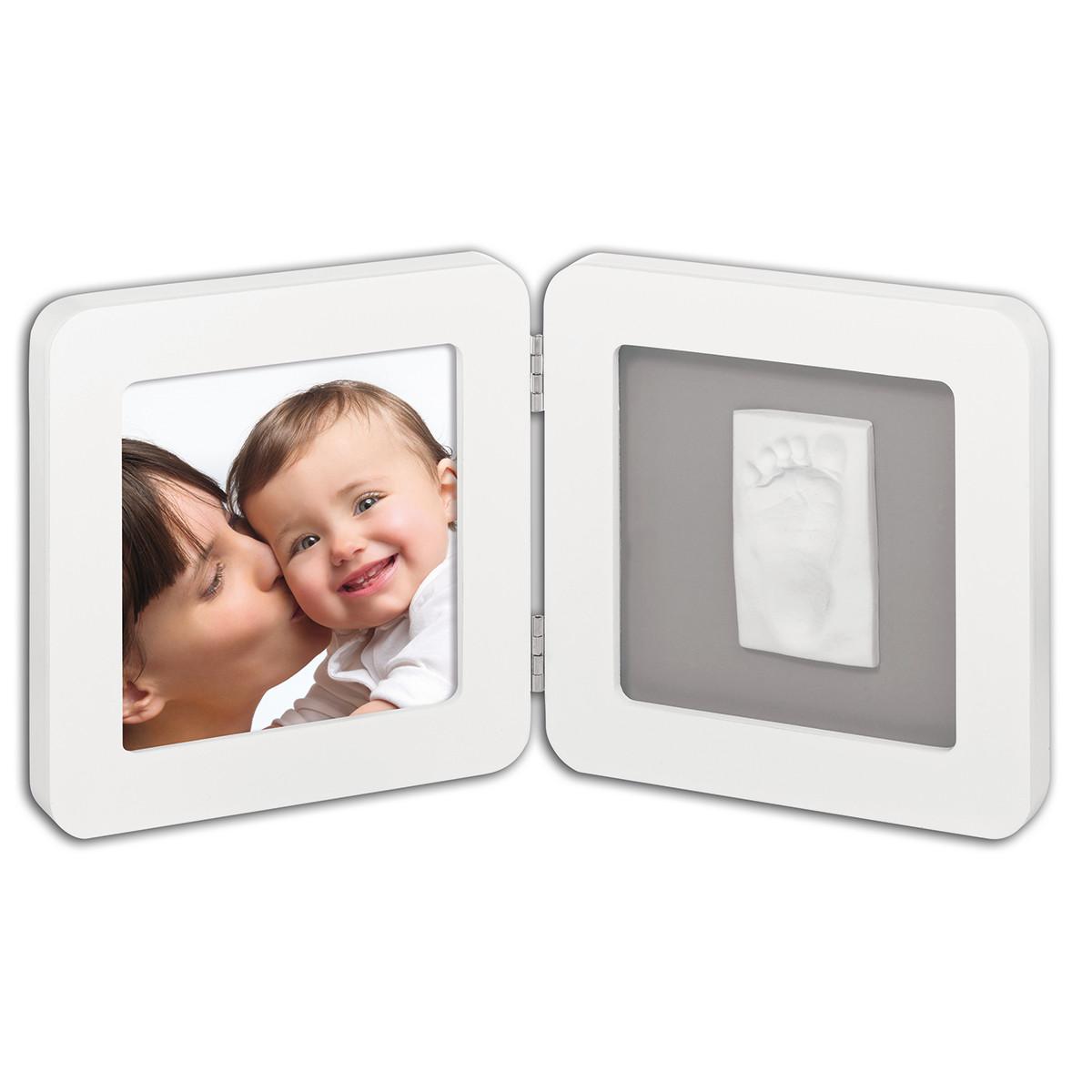 Κορνίζα Αποτύπωμα 2 Θέσεων Baby Art My Baby Touch White/Grey BR71042 home   βρεφικά   βρεφική διακόσμηση