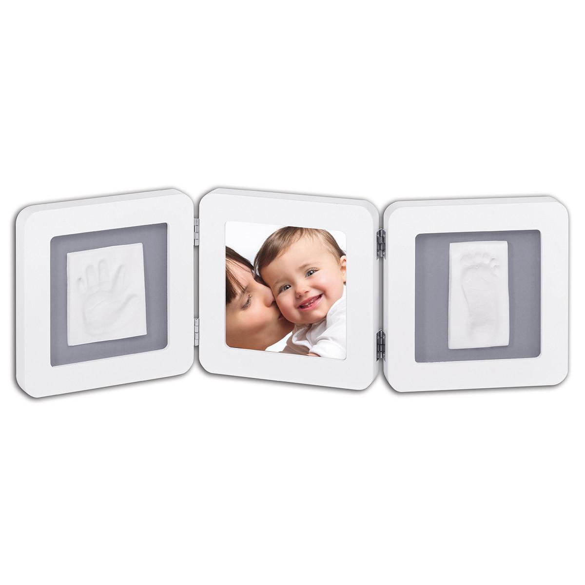 Κορνίζα Αποτύπωμα 3 Θέσεων Baby Art My Baby Touch White/Grey BR71043 home   βρεφικά   βρεφική διακόσμηση