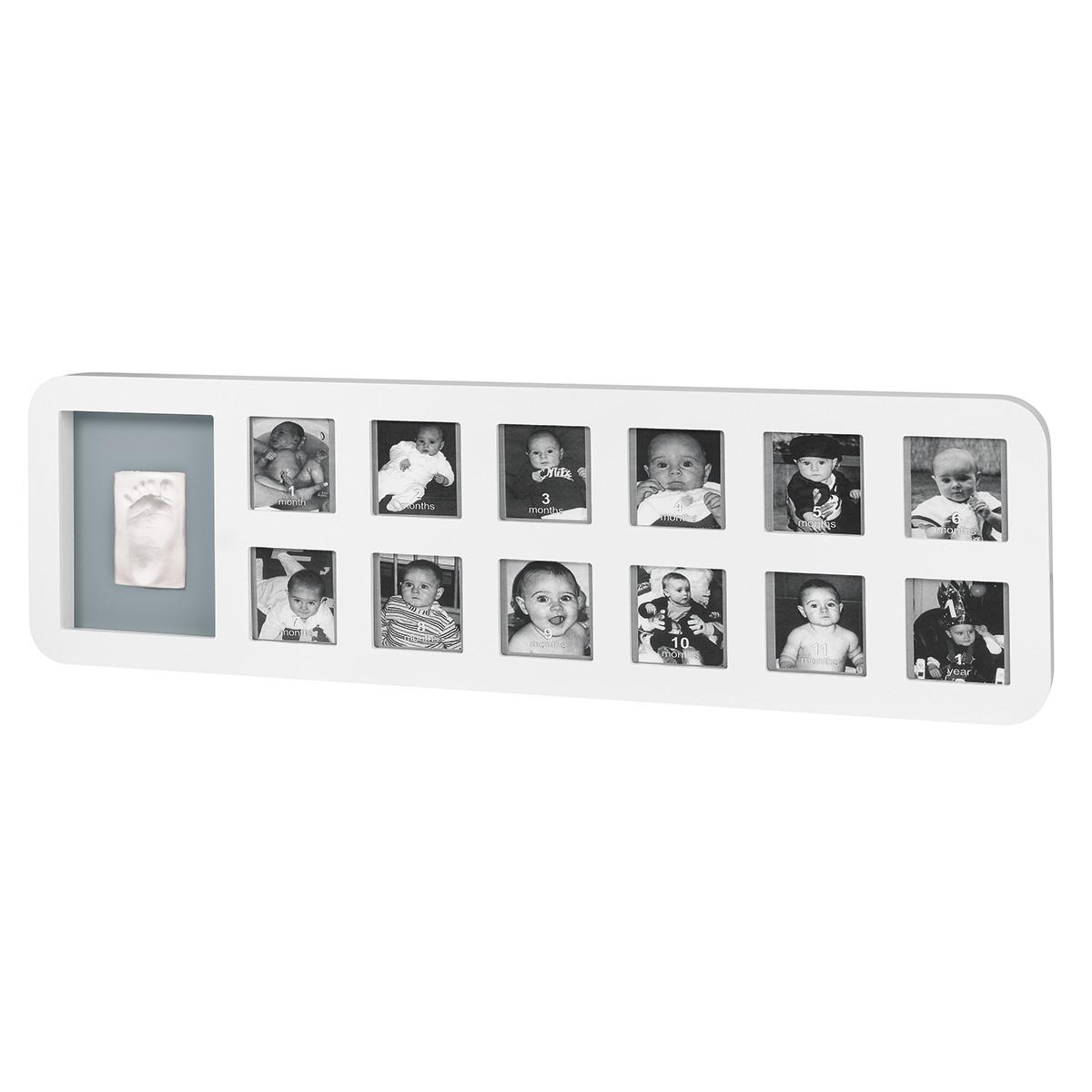 Κορνίζα Τοίχου Αποτύπωμα Baby Art My First Year White/Grey BR71045 home   βρεφικά   βρεφική διακόσμηση