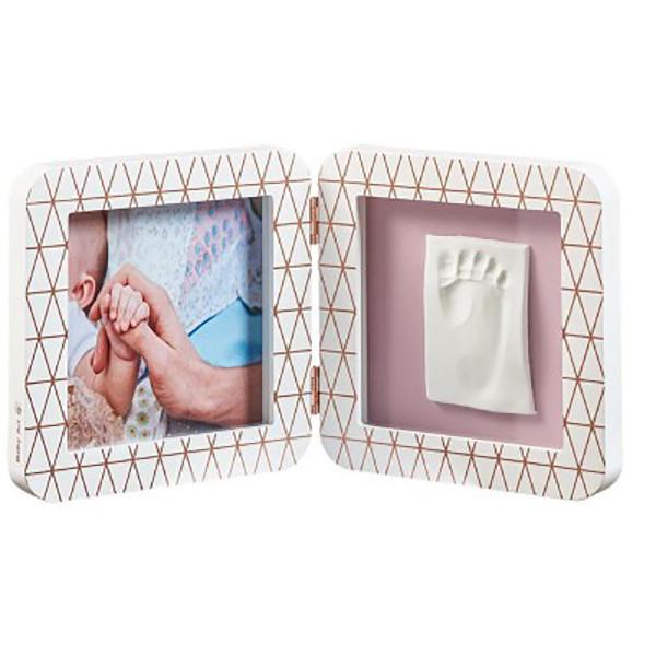 Κορνίζα Αποτύπωμα 2 Θέσεων Baby Art Copper White BR72738
