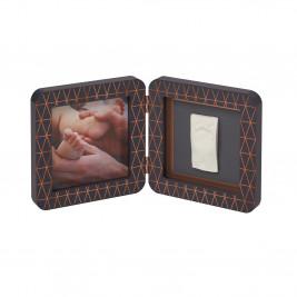 Κορνίζα Αποτύπωμα 2 Θέσεων Baby Art Copper Dark Grey BR72739