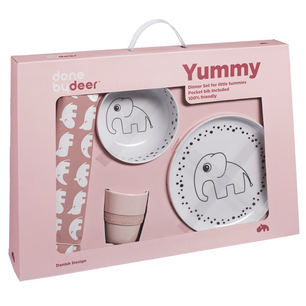 Παιδικό Σετ Φαγητού Done By Deer Happy Dots Powder BR71868