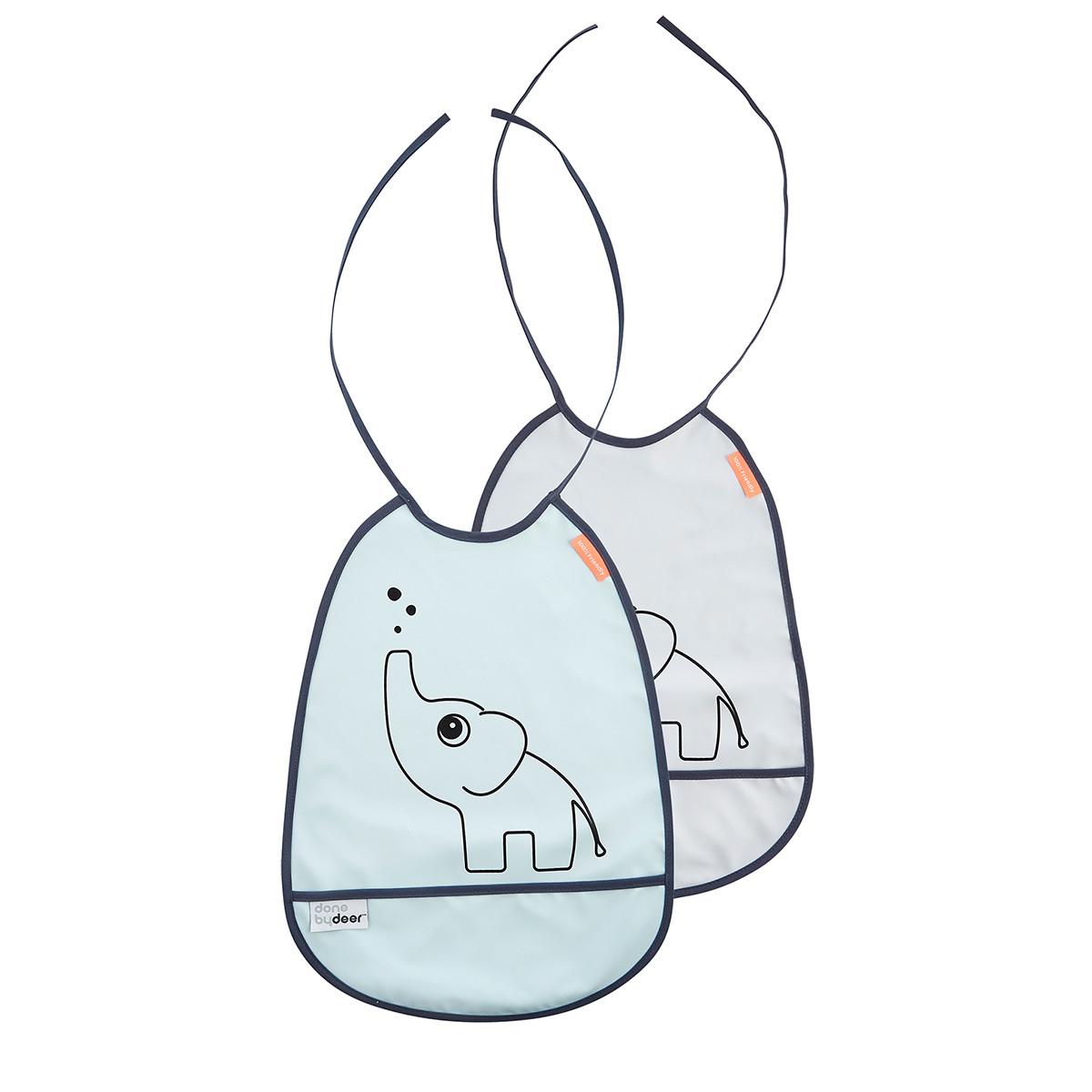 Σαλιάρες (Σετ 2τμχ) Done By Deer Grey Blue