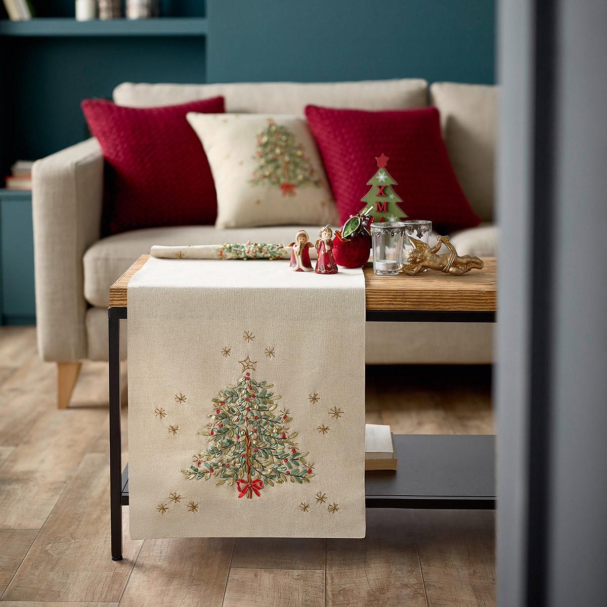 Χριστουγεννιάτικη Τραβέρσα (40×120) Gofis Home 828