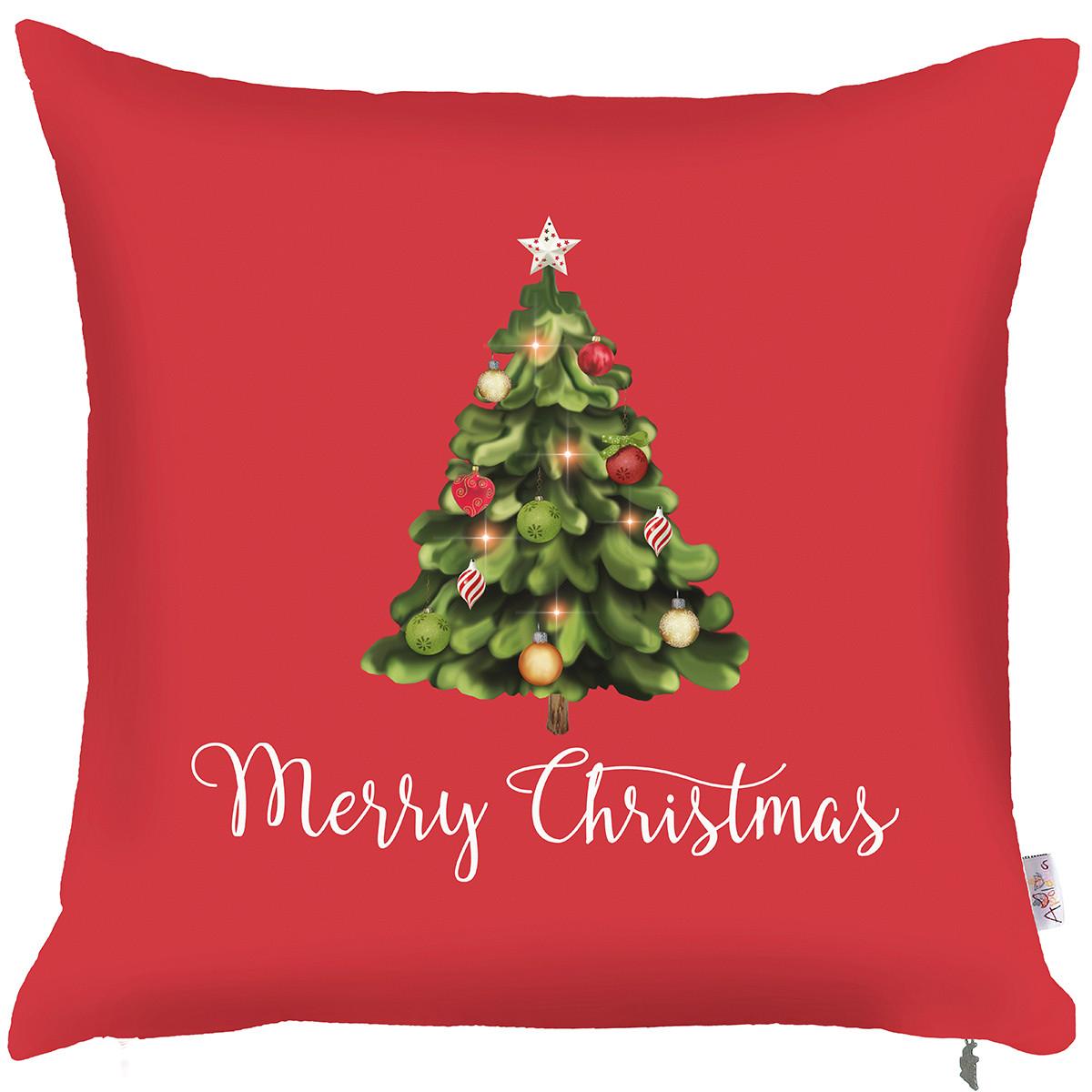 Χριστουγεννιάτικη Μαξιλαροθήκη (43×43) Apolena Tree Xmas 702-690